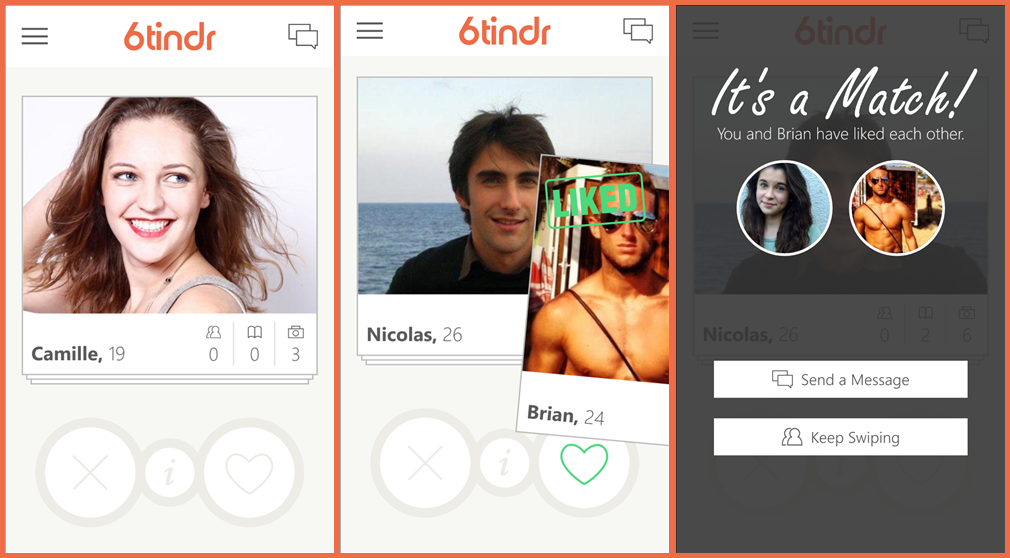 6tinder-screens