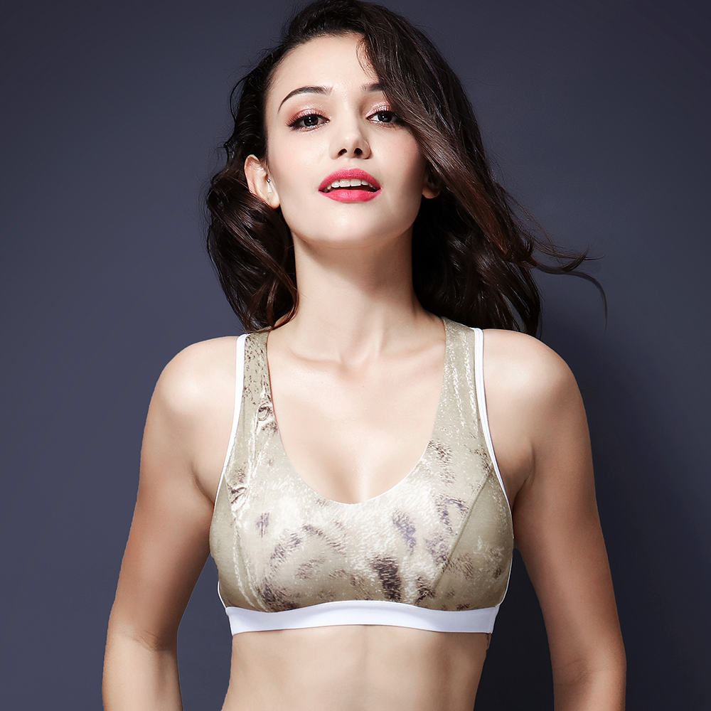 Women-s-Leopard-Sports-Bra-Cotton-font-b-Athletic-b-font-font-b-Wear-b-font
